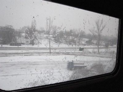 Le matin, au reveil dans le train