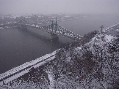 Budapest, dans la neige