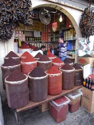 Echope d'epices dans le bazar