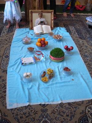 La table preparee pour No Ruz