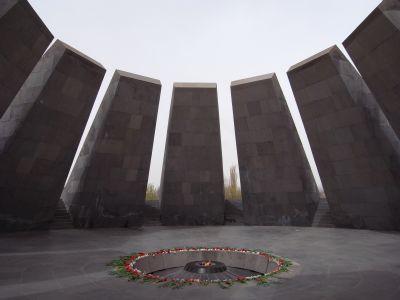 Le monument en memoire des victimes du genocide armenien