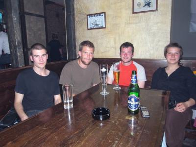 David l'anglais, Graham, moi et Annelie