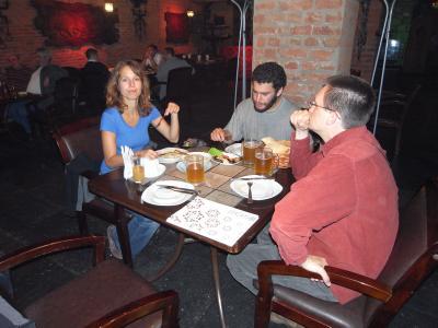 Restaurant avec Petra, Uri l'israelien et Dan